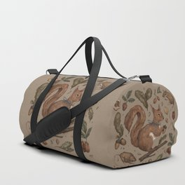 Red Squirrel Duffle Bag