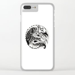 Crow Sun Clear iPhone Case