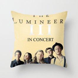 LUMINEERS TOUR Throw Pillow