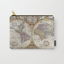 Vintage global map illustration Carry-All Pouch