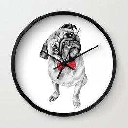 Percy Pug Wall Clock