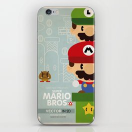 mario bros 2 fan art iPhone Skin