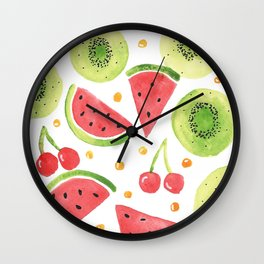 Summer Fruit Punch Wall Clock