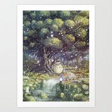 Totor o's Paradise Art Print