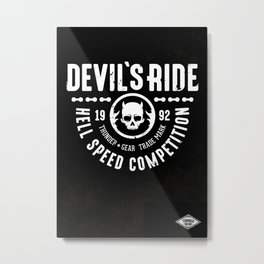 Devil's Ride Metal Print