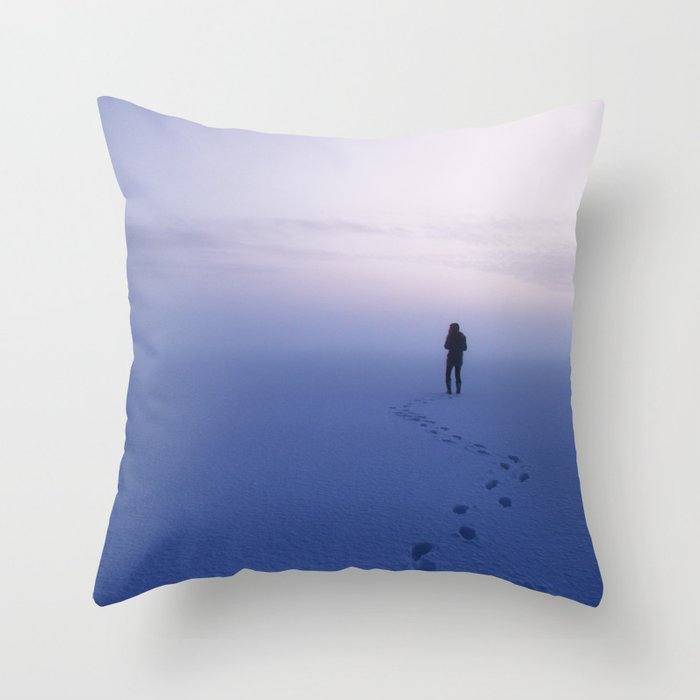 and I'm gonna stay until winter is gone Throw Pillow