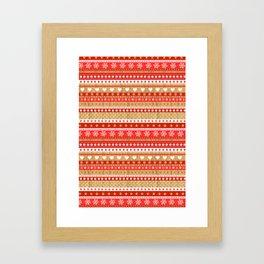 Nordic Stripe Framed Art Print