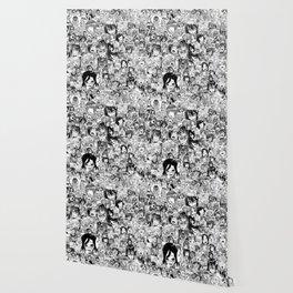 Ahegao Hentai Anime Faces Collage Wallpaper