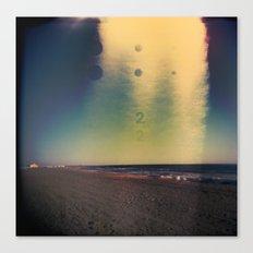 2D Beach Canvas Print