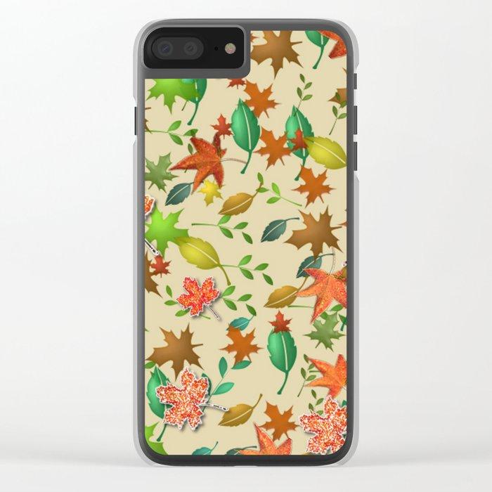 Autumn Design Clear iPhone Case