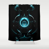 tron Shower Curtains featuring Tron  by Electra