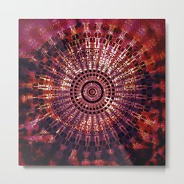 Vintage Abstract Mandala Metal Print