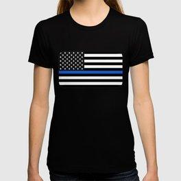 Thin Blue Line American Flag T-shirt
