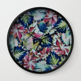 Floral Mix Up Wall Clock