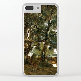 Théodore Rousseau Forest of Fontainebleau, Cluster of Tall Trees Overlooking the Plain of Clair-Bois Clear iPhone Case
