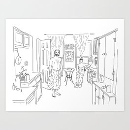 Knickerbocker Ave. Art Print