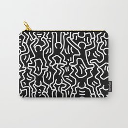 Figures Variation Keith Haring Black Carry-All Pouch