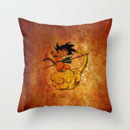 goku and kinton Throw Pillow