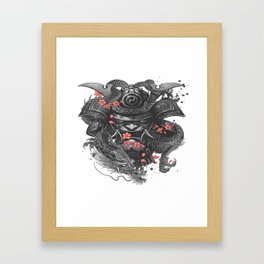 Sleeve tattoo Samurai Irezumi Framed Art Print