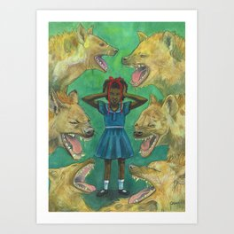 """""""Little Girls Cannot Fly"""" they said Art Print"""