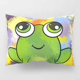 Cute frog and fresh paint Pillow Sham