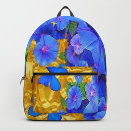 BLUE BUTTERFLIES & M0RNING GLORIES ON GOLD LEAF Backpack