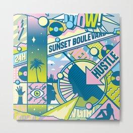 Sunset Boulevard Hustle Metal Print
