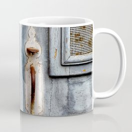 Antique blue door Coffee Mug