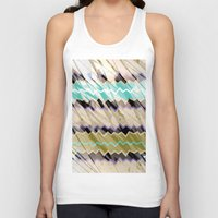 chevron Tank Tops featuring CHEVRON by sametsevincer