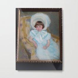 Mary Cassatt - Portrait de Louise-Aurore Villeboeuf enfant Metal Print