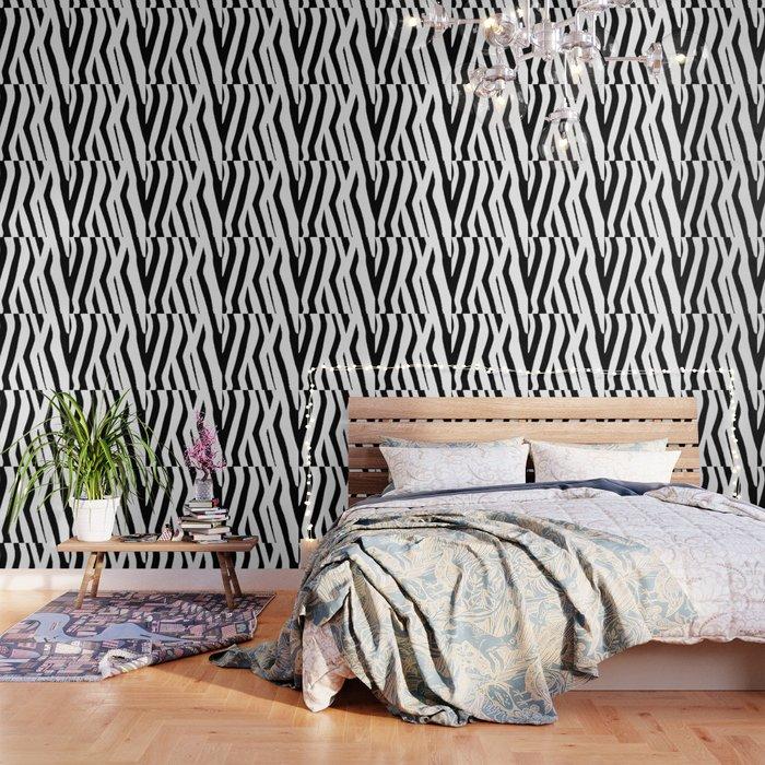 Black and White Zebra Wallpaper by bndesigns