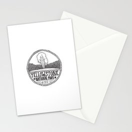 Yellowstone - Old Faithful Illustration Stationery Cards