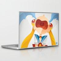 sailormoon Laptop & iPad Skins featuring Crying Sailor Moon by Claudio Bandoli