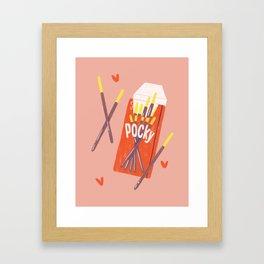 Pocky Time Framed Art Print