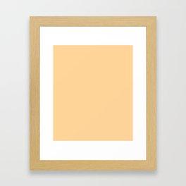 Caramel- solid color Framed Art Print