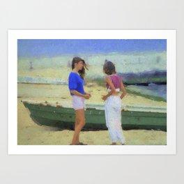 Beach Girls Art Print