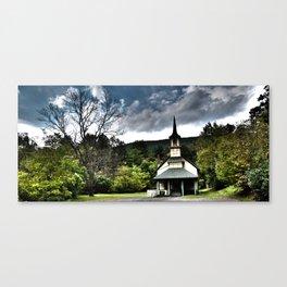 church and tree Canvas Print