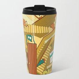 Monsters on Stairs Travel Mug
