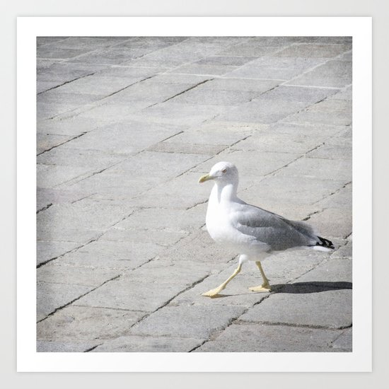 Stepping Out - Venice, Italy Art Print