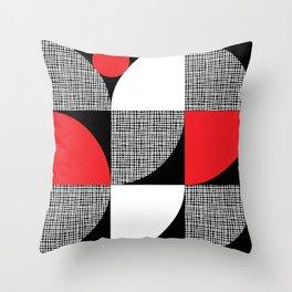 Textured Mid-century Circles No.6 Throw Pillow