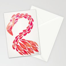 Miami Flamingo – Pink Ombré Stationery Cards