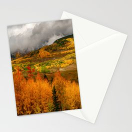 Autumn Scene at Crested Butte, Colorado Stationery Cards