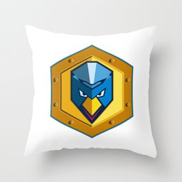 Cyber Punk Chicken Hexagon Icon Throw Pillow