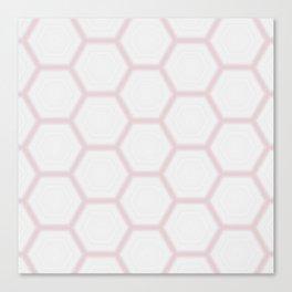 Pink White Marble Geometric Pattern Canvas Print