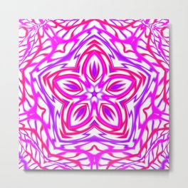 Pink and Purple Kaleidoscope Metal Print