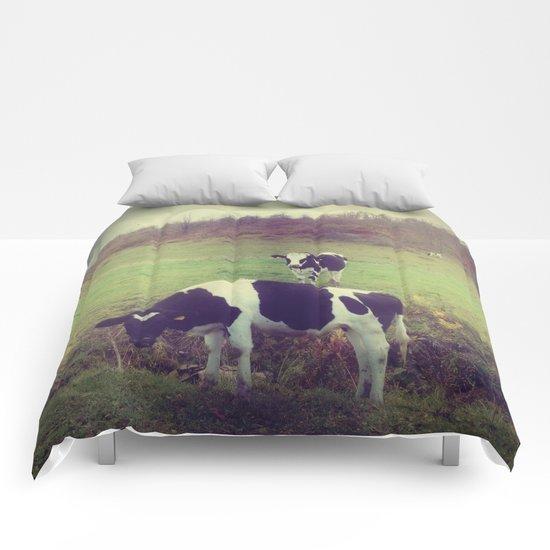 Rustic Cows Comforters