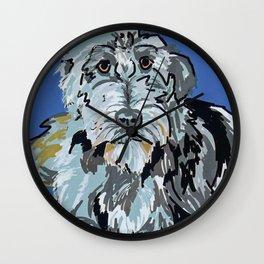 Irish Wolfhound Dog Portrait Wall Clock