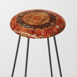 Seley 16th Century Antique Persian Carpet Print Counter Stool