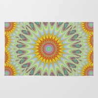 sun Area & Throw Rugs featuring Sun by David Zydd
