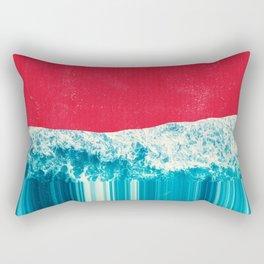 Red Tide Rectangular Pillow